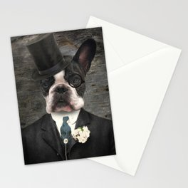 Sir Duncan - Boston Terrier Portrait Stationery Cards