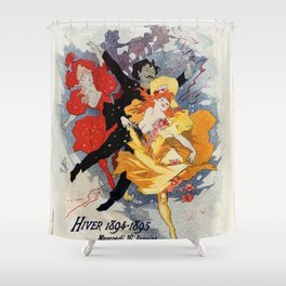 La Redoute des Etudiants Cheret 1894 Shower Curtain