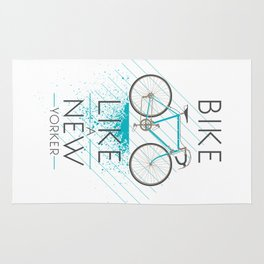 Bike like a new yorker Rug