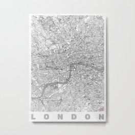 London Map Line Metal Print