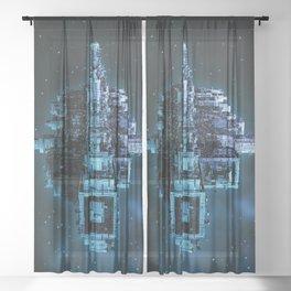 Leviathan BLUE / Keep on trucking Sheer Curtain