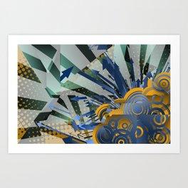 Vector Cubism Art Print