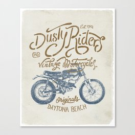 Dusty Riders Vintage Motorcycles Canvas Print