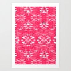 Flamingo land flip repeat, new colorway 5 Art Print