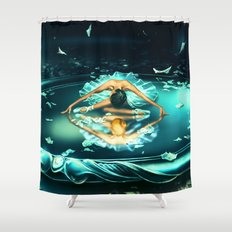 GEMINI from the Dancing Zodiac Shower Curtain