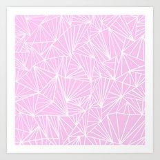 Ab Fan Pink Art Print