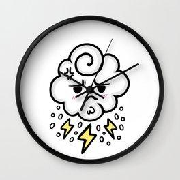 cloud rain spark cute sticker stickers iphone ipad galaxy case cover skin love 2018 yellow white sad Wall Clock