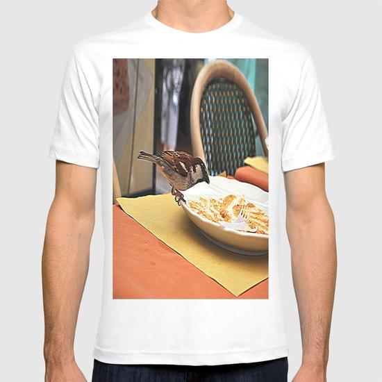 bird at the restaurant T-shirt