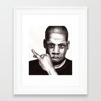 jay fleck Framed Art Prints featuring Jay by Daniel Hughes