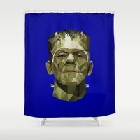 frankenstein Shower Curtains featuring Frankenstein by Ruben Alexander