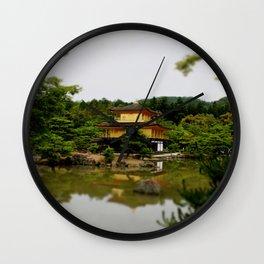 kinkaku-ji in colour Wall Clock
