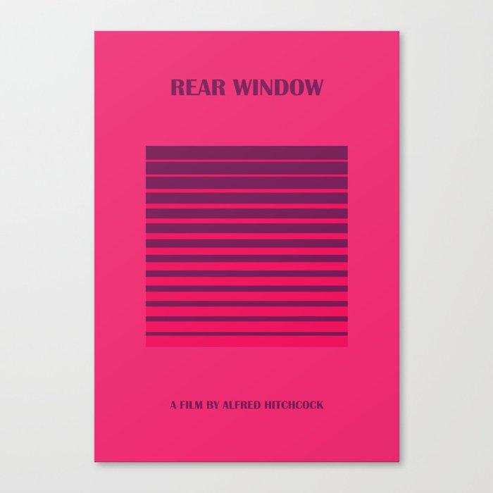 Rear Window Minimalist Poster Canvas Print