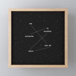 we are all stars Framed Mini Art Print