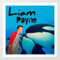 liam payne Art Prints featuring Liam Payne by Marianna