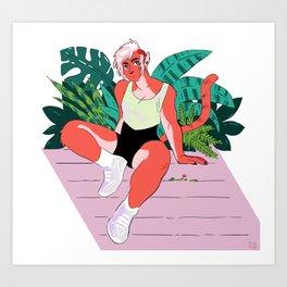 Big Buff Cat Girlfriend Art Print