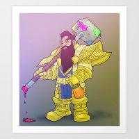 Deth Dwarf Art Print