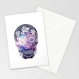 Mexican Skull Space V2 Stationery Cards