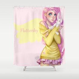 Human Fluttershy Shower Curtain