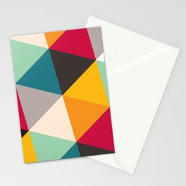 Geometric Triangles Stationery Cards