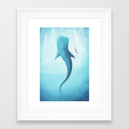 The Whale Shark Framed Art Print