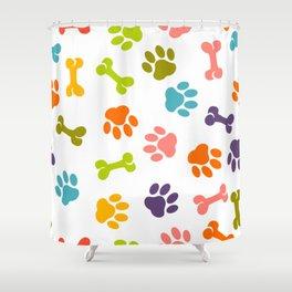 dog paw pattern Shower Curtain