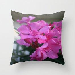Pink Oleander Bunch Throw Pillow