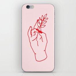 Hand Holding iPhone Skin