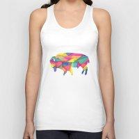 buffalo Tank Tops featuring Buffalo by Jake Martin