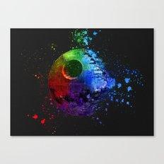 Death Star Splash Painting Canvas Print