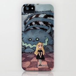 Alice and the Cheshire Cat iPhone Case