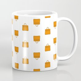 Orange Birkin Vibes High Fashion Purse Illustration Coffee Mug