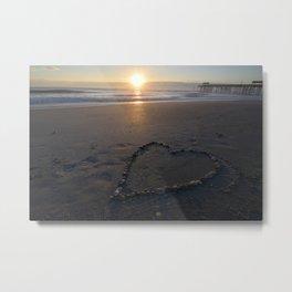 Sunrise on the beach Metal Print