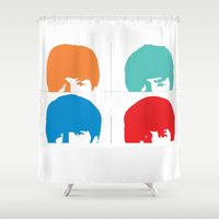 liverpool Shower Curtains featuring Fab 4 of Liverpool by Alexandra Gambaro