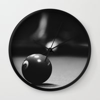 pool Wall Clocks featuring Pool by Giovanni Tamponi