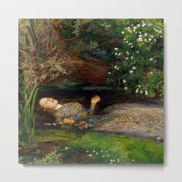 Ophelia - John Everett Millais Metal Print