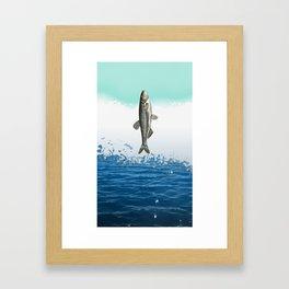 little fish big fish Framed Art Print