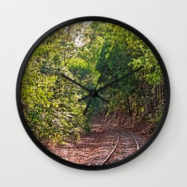 The curve in the rail Wall Clock