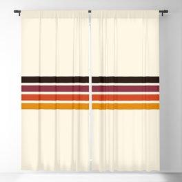 Retro Racing Stripes Blackout Curtain