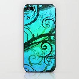 Blue Rustic Swirls iPhone Skin