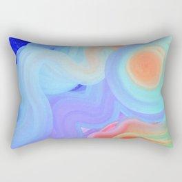 Curves and Colors  Rectangular Pillow
