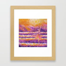 amethyst in the glow Framed Art Print