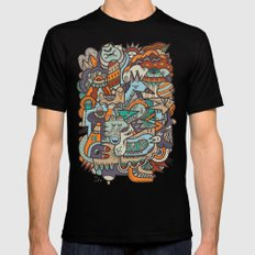 Punky Redux Mens Fitted Tee Black SMALL