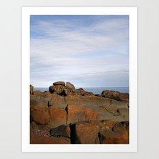 Superior Rocks Art Print