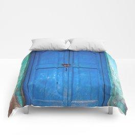 Blue Indian Door Comforters