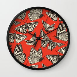 summer butterflies fire Wall Clock