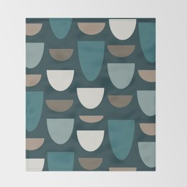 Turquoise Bowls Throw Blanket
