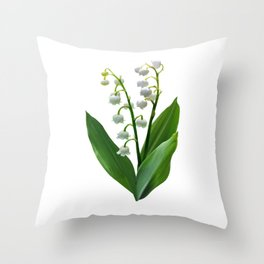 Lily of the Valley Floweret Throw Pillow