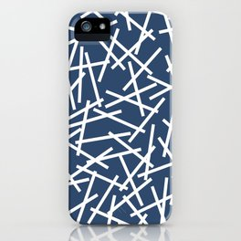 Kerplunk Navy and White iPhone Case