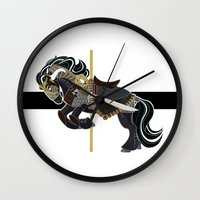 thorin Wall Clocks featuring Thorin, Carousel Pony by MarieJacquelyn