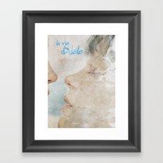 La vie d'Adele, movie poster - chapter two - alternative playbill Framed Art Print